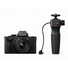 LUMIX DC-G100VEG-K, fényképezőgép DMW-SHGR1 markolat állvánnyal, Nokia OZO audio hanggal, 20,3 Mpixel, LUMIX G VARIO 12-32 optikával