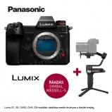 LUMIX DC-S1HE-K Full-Frame, fényképezőgép váz - 6K/24p, 10-bit 60p 4K/C4K ,  + Zhiyun Webill S stabilizátor