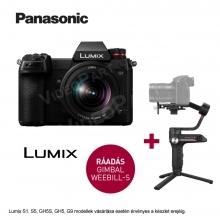 LUMIX DC-S1KE FullFrame fényképezőgép LUMIX S 20–60 mm opt. + Zhiyun Webill S stabilizátor