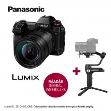 LUMIX DC-S1ME-KFull-Frame tükörnélküli fényképezőgép váz és 24-105mm optika - 24,2MP, +  Zhiyun Webill S stabilizátor