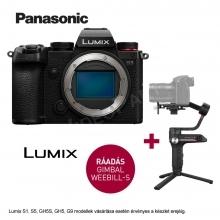 LUMIX DC-S5E-K  FULL Frame, 4K  váz  + Zhiyun Webill S stabilizátor