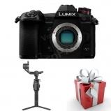 LUMIX DC-G9EG-K fényképezőgép váz + Feiyutech AK2000S gimbalcsomag