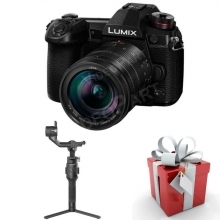 LUMIX DC-G9LEG-K (12-60 Leica optika) +Feiyutech AK2000S gimbalcsomag