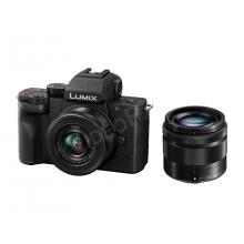 LUMIX DC-G100WEG-K, fényképezőgép videobloggereknek, LUMIX G VARIO 12-32 és 35-100 optikával