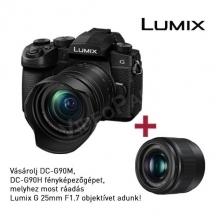 LUMIX DC-G90HEG-K  tükörnélküli fényképezőgép, 4K video 14-140 optika G90-02