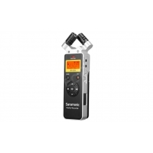 kézi broadcast sztereó hangrögzítő, diktafon, WAV, mikrofon, vonalszint, távirányító, robusztus, lavalier mikrofon, LCD, 2xAA elemről vagy USB C