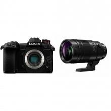 LUMIX DMC-G80WEG-K + H-RS100400E optika, csomagban