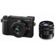 LUMIX DMC-GX80WEGK fényképezőgép, 12-32 és 35-100mm-es cserélhető optikával - fekete