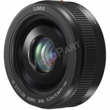 Mikro 4/3-os rendszerű,pancake típusú Lumix G objektív; 20 mm (35 mm ekv.: 40 mm) - fekete