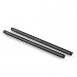 SmallRig 1054 2db 15 mm-es fekete alumínium ötvözetrúd (M12-40cm) 16 hüvelykes