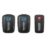 Saramonic Blink500 B2, ultrakompakt 2,4 GHz-es kétcsatornás vezeték nélküli mikrofonrendszer 2 db adóval, 2 db körérzékeny klipsz mikrofonnal, beépített akkumulátorokkal