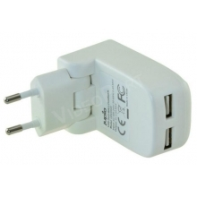 Dual USB töltõ adapter 17W