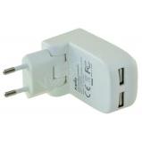 Dual USB töltõ adapter 17W
