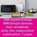 Panasonic NN-GD38HS inverteres mikrohullámú sütő grillezővel, Steam+ párolóedénnyel, 17 program