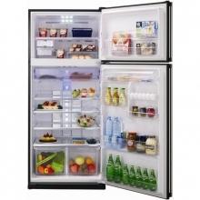 Felülfagyasztós kombinált hűtőszekrény (433/150 literes) - fekete
