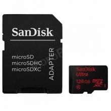 128GB MicroSD kártya + adapter, CL10, 80Mbps