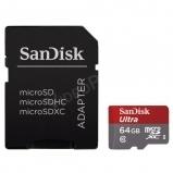 64GB MicroSDXC kártya + adapter, CL10 48Mbps