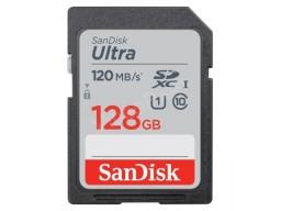 SANDISK SDHC ULTRA KÁRTYA 128GB, 120MB/s, CL10, UHS-I