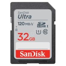 SANDISK SDHC ULTRA KÁRTYA 32GB, 120MB/s, CL10, UHS-I