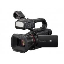 Panasonic HC-X2000E profi 4K kamera, Wi-fi, 4:2:2 10 bit, 2 optikagyűrű, 24x optikai zoom, SDI, XLR, kameralámpa