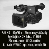 Panasonic AG-UX180 4K (UHD) / Full HD - 50p/60p - 24mm nagylátószög - 20x zoom - 1