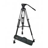 alumínium kameraállvány szett 4,5 kg kamera súlyig hordtáskával, fekete, ø75mm szintezőgömbbel
