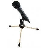 AV-LEADER dinamikus kardioid mikrofon 3,5mm Jack csatlakozóval, kengyellel, pókállvánnyal - 500 ohm