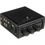 DSLR fényképezőgéphez való 2 csatornás hangkeverő fantomtáppal