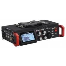 mobil DSLR hangrögzítõ 4+2 csatornás, XLR, +48V fantomtáp, 2x beépített mikrofonnal, SMPTE TIME CODE funkcióval