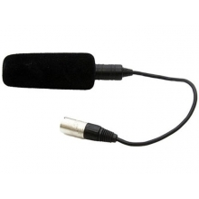 kamera atmoszféra mikrofon beépített kábel, 3pin XLR csatlakozó, fantomtáp., szélzajszűrő szivacs, fém, fekete