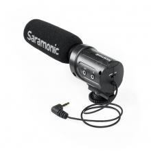 Saramonic SR-M3, kamera puskamikrofon külön mikrofon bemenettel és fejhallgató kimenettel