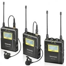 vezetéknélküli hangrendszer, UwMic9 2x TX9 zsebadó és klipsz mikrofon + RX9 vevő - UHF, LCD, AA működtetés, 96 csatorna, 100 méter, robusztus kialakítás