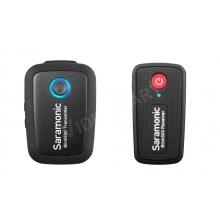 Saramonic Blink500 B1 ultrakompakt 2,4 GHz-es kétcsatornás vezeték nélküli mikrofonrendszer körérzékeny klipsz mikrofonnal, beépített akkumulátorokkal