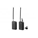 4 csatornás VHF vezetéknélküli mikrofonrendszer, körérzékeny kitűzőmikrofonnal
