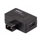 SWIT S-7111, D-tap csatlakozóból USB és D-tap továbbsorolás