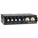 4 bemenetes hordozható mikrofon / vonal hangkeverő 10-pines kamera visszacsatolással