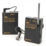VHF vezetéknélküli kamera-mikrofon szett csíptetős mikrofonnal - miniJack csatlakozó