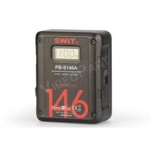 Swit PB-S146A Gold-mount akkumulátor, 146Wh, LCD kijelző, 2xD-tap, USB, 16A terhelhetőség