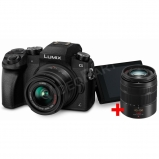 Lumix G - DSLM váz + 14-42, ill. 45-150 mm-es - 2 db objektív - fekete,