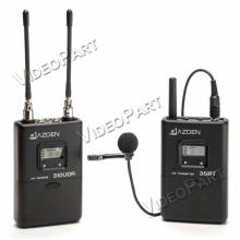 UHF vezetéknélküli diversity kamera-mikrofon szett csíptetős mikrofonnal - XLR / miniJack csatlakozó