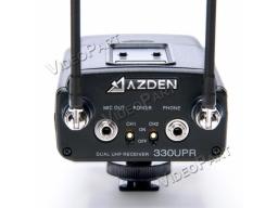 UHF vezetéknélküli 2 csatornás kamera hangvevõegység LCD kijelzõvel - XLR / miniJack csatlakozó
