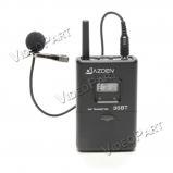 UHF vezetéknélküli zsebadó csíptetős mikrofonnal