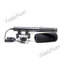 puskamikrofon kapcsolható közeli vagy távoli érzékenységgel - 3,5mm Jack csatlakozó