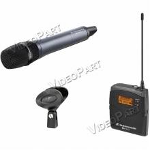 vezetéknélküli kamera-mikrofon szett kézi mikrofonnal