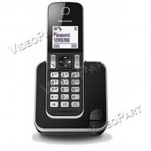 DECT telefon, fekete